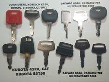 12 Key Set Cat, John Deere, Komatsu, Kato, John Deere, Kubota, Bobcat, Liebherr#
