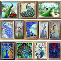 Peacock DIY 5D Diamond Painting Embroidery Animal Cross Stitch Home Decor Bird