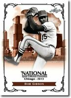 50) BOB GIBSON 2013 Leaf National Convention PROMO St. Louis Cardinals Card LOT