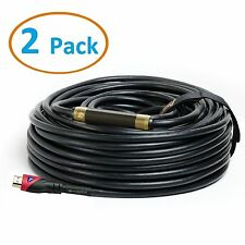 Pack of 2 HDMI CABLE 75FT For BLURAY 3D DVD PS3 HDTV XBOX LCD HD TV 1080P