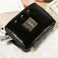 Yves Saint Laurent YSL Black Cosmetic Pouch Bag with Mirror Brand New