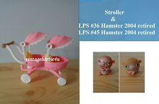 Littlest Pet Shop LPS Lot 36 45 & Sunny Stroll with Babies Pink Double Stroller