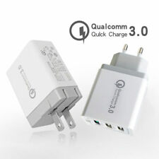30W Fast Quick Charge QC 3.0 3 Port USB Hub Wall Charger Adapter EU/US/UK Plug