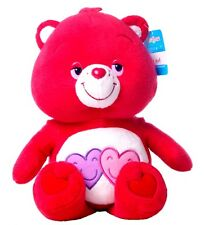 "NEW 12"" CHILDRENS CARE BEARS ALWAYS THERE RED BEAR PLUSH SOFT TOY"