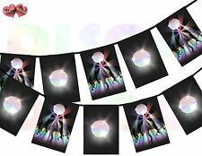 Dance Floor and Disco Ball Rectangular I Love 80's Theme Bunting Banner 12 flags