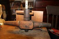 Antique LARGE Wooden Barrel Cask Tap Spigot Spout 20-1/2""