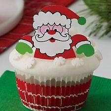 Kit déco cupcakes Père Noël x24 - Wilton