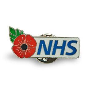 NHS Flower Pin Badge White - Nurse, Doctor, GP