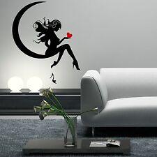 Fairy Moon Heart Shoe Pin Up Girl Wall Art Sticker Decal Transfer Mural WSD591
