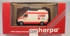 Herpa 1/87 184762 Mercedes Benz Sprinter RTW ASB  Darmstadt OVP #5779
