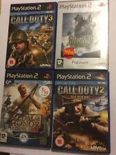 4 PLAYSTATION 2 PS2 COD MOH GAMES CALL OF DUTY 2 & 3 +MEDAL OF HONOR FRONTLINE +
