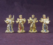 4PCS Four Heavenly Kings Protector Bodhisattva Buddha Statue Chinese Ancient