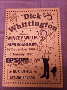 EPSOM PLAYHOUSE flyer DICK WHITTINGTON