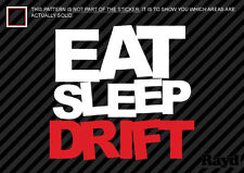 (2x) Eat Sleep Drift Sticker Decal Die Cut #3 jdm drift