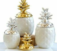 Ceramic Pineapple Storage Box for Jewelry Black Pineapple Luxury Home Decoration