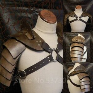 Newly Costume Viking Pirate Cosplay Vintage Gothic Knight Rivet Armors Men Adult