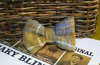 Handmade Harris Tweed Tartan Dog Bow Ties For Dogs And Puppies Tweed Dickie Bow