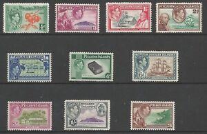 PITCAIRN ISLAND SG1-8 THE 1940-51 GVI SET OF 10 FINE & FRESH MNH CAT £75