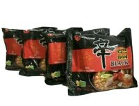 Korean Instant Noodle NongShim Shin Ramyun Black Premium Spicy Ramen x 4
