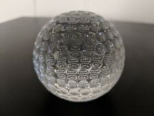 Stamped Authentic Waterford Crystal 12oz Golfball Trophy Desk Paper Weight