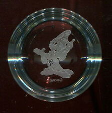 Disney MICKEY MOUSE Sorcerer's Apprentice GLASS PAPERWEIGHT Clear DOME Fantasia