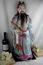 large Chinese porcelain famille rose immortal figurine statue , Republic
