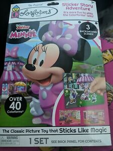 New Disney Minnie Mouse Colorforms Sticker Story Adventure PlaySet Gift Toy