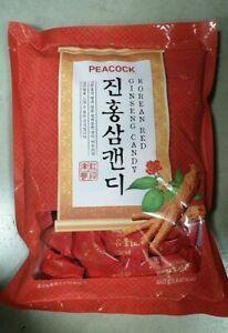 Korean Red Ginseng Extract Candy Korea Hard Candy 460g peacock