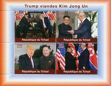 Chad 2018 MNH Donald Trump Visits Kim Jong Un Korea 4v M/S US Presidents Stamps