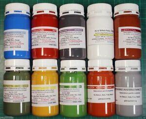 Proben 100 ml Acrylsilikon Farben für Beton Putz Gips /für innen und außen