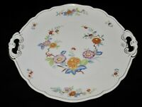 """Hutschenreuther MANDALAY #31372 Floral, Handled Cake Plate, 10 1/8"""""""