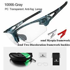 RockBros Cycling Plastic Clear Photochromic Glasses Anti-fogging Eyewear Gray