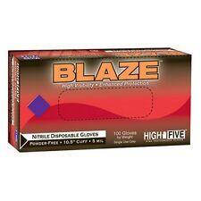 High Five N483 Blaze sin polvo Nitrilo Examen Guante - Grande