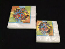 Vintage DC Comics 1976 Super Hero Friends Napkins Superman Batman Wonder Woman