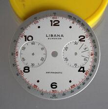 Swiss LIBANA Superior Antimagnetic Valjoux 23 CHRONOGRAPH Val.23 DIAL UNUSED NOS