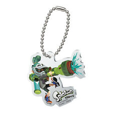 Splatoon Teal Male Inkling with Gun Acrylic Key Chain Anime Licensed MINT