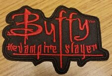 Buffy The Vampire Slayer Black & Red Logo Costume Patch 3 1/4 inches wide