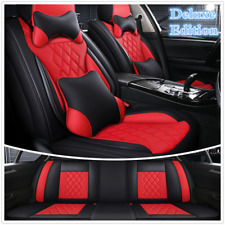 Universal Deluxe Edition 5D Surround Full Set Car Seat Cushion Cover w/Pillows