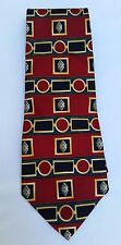 Multicolor CHRISTIAN DIOR CRAVATE 100% Imported Silk Print Necktie (pre-owned)