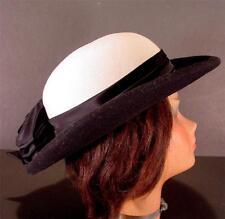 VINTAGE MR. T EXCLUSIVE BLACK & WHITE FELT DERBY HAT