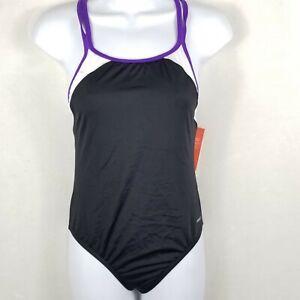 NWT Speedo Backless One Piece Swimsuit Swim Suit Black Junior's  Size 16