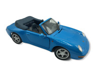 Vintage 1994 Maisto Porsche 911 Carrera Cabriolet Blue Scale 1/18 Convertible