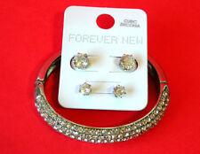 FOREVER NEW Cubic Zirconia Earrings & Hinged Bracelet Set ~ 2014