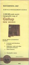 USGS BLM edition topographic map New Mexico GALLUP 1987