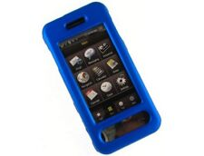 Rubber Coated Cover Blue For Samsung Instinct M800