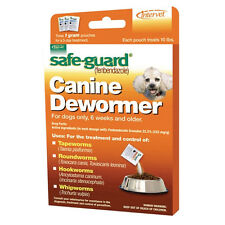 Dog Puppy Animal Wormer FENBENDAZOLE Broad Spectrum Pet Dewormer Safeguard 10lb