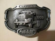 PETERBILT TRUCK Trucker BELT Buckle Vintage TONKIN 1939 first Peterbilt Buckle
