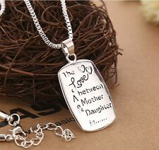 Chic Jewelry The Love between A Mother & Daughter Charm Pendant Necklace Gifts