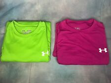 Under Armour Men's Size Medium Short Sleeve Green & Purple Shirts - Lot of 2 -