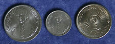 1987 King Bhumibol Adulyadej 60 Birthday Unc 3 Coin Set 2,5 & 10 Baht Rama IX b